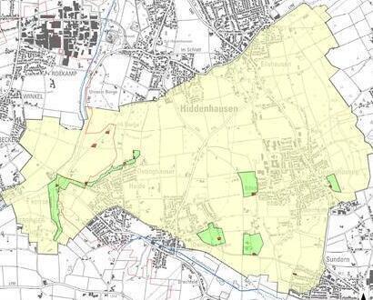 Wasserschutzgebiet-Karte Hiddenhausen