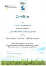 Zertifikat Umweltschutz