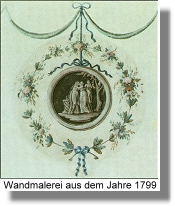 Wandmalerei aus dem 18. Jahrhundert
