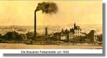 Histrische Ansicht der Brauerei um 1930