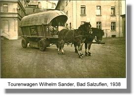 Bild eines Pferdegespanns um 1938